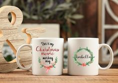 Personalized Graduation Gifts, Graduation Gifts For Her, Christmas Mugs, Christmas Movies, Funny Office Gifts, Sisters Coffee, Name Mugs, Handmade Design