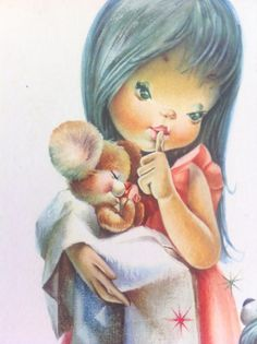 Good Night Mousie Vintage Print Shabby Chic Nursery by Pesserae