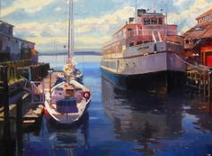 The Argosy Seattle, marine painting by Robin Weiss Original art painting by Robin Weiss - DailyPainters.com