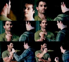 Stiles and Derek talking about how they are going to get into the bank