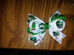 Little girls Jets bow...except I want it for MY hair and in COLTS!!!