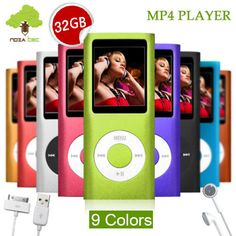 32GB New MP3 MP4 MP5 4th Slim Music Media Player FM Radio Video Recorder   eBay