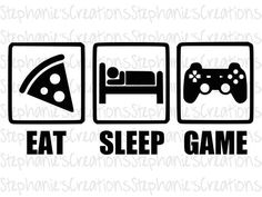 Excited to share the latest addition to my shop: Eat Sleep Game Cool Stuff, Arte Do Harry Potter, Free Svg, Video Game Rooms, Game Room Design, Silhouette Studio Designer Edition, Gamer Gifts, Eat Sleep, Boy Room