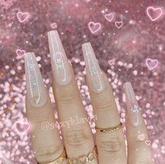 Ballerina Acrylic Nails, Colored Acrylic Nails, Long Square Acrylic Nails, Bling Acrylic Nails, Best Acrylic Nails, Goth Nails, Edgy Nails, Garra, Anime Nails