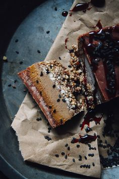 This Rawsome Vegan Life: CRUNCHY GOOEY SWEET CARAMEL CHOCOLATE BUCKWHEAT SLICES