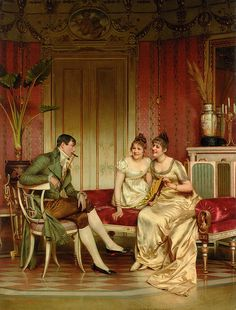 Frederic Soulacroix (1858-1933) - The Afternoon Visitor