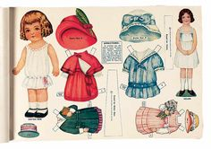 """Paper Dolls, 1790-1940 - The Collection of Shirley Fischer: 280 American Paper Doll Book """"My Dollies"""" by Gabriel"""