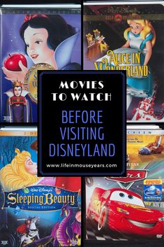 Movies to watch before visiting Disneyland. Most of the rides at Disneyland are based on movies. Click to find out which ones to watch before your next trip.
