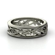 Men's White Gold Ring by Just Like You Designs