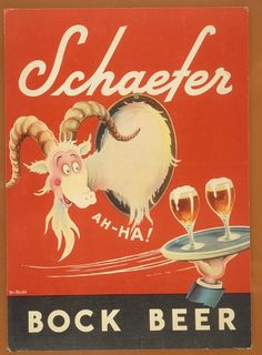 "Of course Dr. Seuss liked beer...    ""Early Advertising Artworks By Dr. Seuss - DesignTAXI.com"