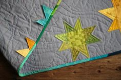 Rainbow Stars quilt | by PatchworkPottery