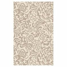 With an intricate floral motif and neutral palette, this eye-catching wool rug offers chic appeal for homes of any aesthetic.  Product: RugConstruction Material: WoolColor: Winter whiteFeatures:  Hand-tuftedMade in India Dimensions: 5' x 8' Note: Please be aware that actual colors may vary from those shown on your screen. Accent rugs may also not show the entire pattern that the corresponding area rugs have. BFT Rug