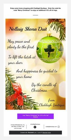 Irish Jewelry, Claddagh, Merry Christmas, Coding, Gifts, Shopping, Merry Little Christmas, Presents, Happy Merry Christmas