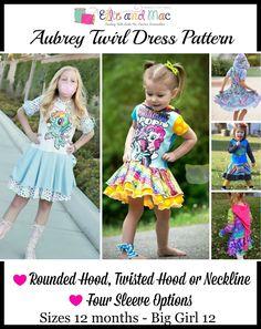 Girls Aubrey Circle Skirt Dress PDF Pattern by Ellie and Mac