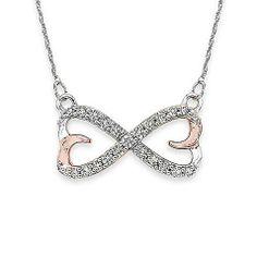 For perpetual style, this diamond infinity pendant gives her never ending radiance.