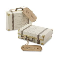 "Kate Aspen ""Bon Voyage"" Vintage Suitcase Favor Box, Set of 24 Kateaspen http://www.amazon.com/dp/B00LP6125U/ref=cm_sw_r_pi_dp_cR0zvb0X0NRRD"
