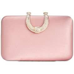 I.n.c. Danyele Satin Clutch, Created for Macy's (82 AUD) ❤ liked on Polyvore featuring bags, handbags, clutches, blush, pink sparkle purse, buckle purses, satin purse, satin clutches and glitter clutches