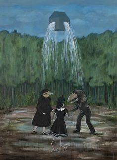 """""""The Transformation"""" by Banu Birecikligil, oil on canvas, 225 x 165 cm"""