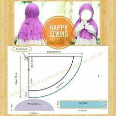 Ideas Sewing Headbands Tutorial Girls For 2019 Sewing Patterns Girls, Sewing For Kids, Baby Sewing, Headband Tutorial, Hijab Tutorial, Abaya Pattern, Cape Pattern, Pattern Design, Baby Hijab