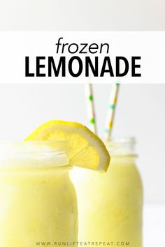 Cold and refreshing, this 5 ingredient frozen lemonade pairs perfectly with a warm sunny day! Frozen Lemonade Recipes, Frozen Strawberry Lemonade, Frozen Drinks, Frozen Fruit, Pink Lemonade, Lemonade Cocktail, Wine Recipes, Fireball Recipes, Alcohol Recipes