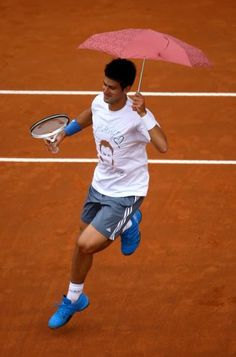 Novak Djokovic - before rain