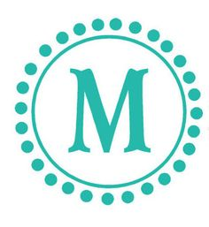 Circle Monogram Decal letter with polka Dots for by HouseHoldWords, $35.00