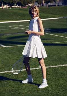 fashion editorials, shows, campaigns & more!: grand slam: aline weber by misha taylor for harper's bazaar germany march 2015 Tennis Wear, Tennis Dress, Tennis Clothes, Tennis Fashion, Sport Fashion, Fitness Fashion, Sporty Girls, Sporty Outfits, Tennis Outfits