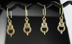 Choice of Short Goldfill Chain Mail Earrings or por LoneRockJewelry