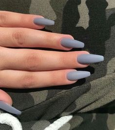 22 Unbiased Report Exposes The Unanswered Questions On Nail Inspo Coffin Long - Acrylic Nails Coffin - Aycrlic Nails, Cute Nails, Pretty Nails, Fancy Nails, Glitter Nails, Matte Acrylic Nails, Acrylic Nail Designs, Matte Gray Nails, Fake Nail Designs