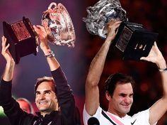 Roger Federer 2017/2018 - Australian Open. Roger Federer  defends his Australian Open title. Happy dance and jumps!!!