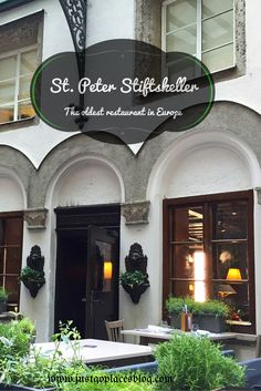 St. Peter Stiftskeller in old town Salzburg in Austria is the oldest restaurant in Europe