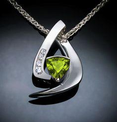 peridot pendant August birthstone gemstone by VerbenaPlaceJewelry