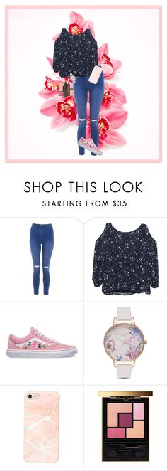 """""""Pink Floral Love"""" by thegirloverthere on Polyvore featuring Velvet by Graham & Spencer, Vans, Olivia Burton, Yves Saint Laurent, Burt's Bees, outfit, floral, Flowers and ootd"""