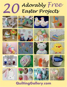 10 easy sew easter projects quick and easy easter projects and 20 adorably free easter sewing projects negle Image collections