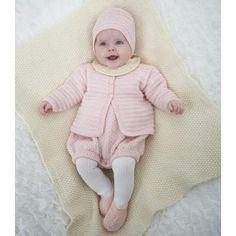 Babysæt (Opskrift 31001) - Dale Garn - sikkert fint i grønt/brunt/hvitt til gutt
