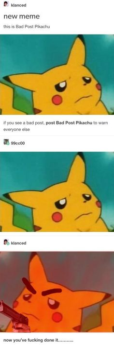 Bad Post Pikachu
