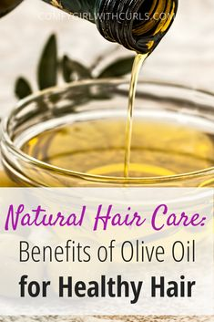 Natural Hair Care Tips: Get healthy hair! What are the benefits of using Extra Virgin Olive Oil in your Natural Hair Regimen for healthy, moisturized, and growing hair? Natural Hair Care Tips, Natural Hair Regimen, Natural Hair Growth, Natural Hair Styles, Olive Oil Benefits, Hair Care Oil, Hair Porosity, Healthy Hair, Hair Goals