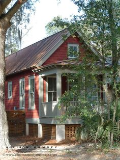 The Duck Blinds Plan by Allison Ramsey Architects built at Maiden Lane in Bluffton, SC. This plan is 588 Heated Square Feet, 1 Bedroom & 1 Bathroom. Carolina Inspirations Book I, Page 90, C0050.