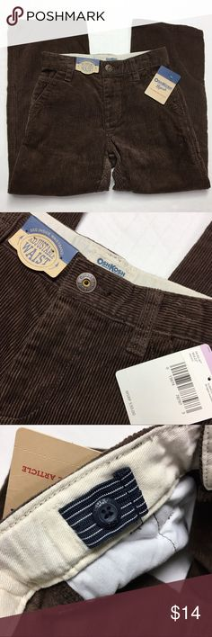 NWT OshKosh Cords Brand New With Tags Boys Size 6 Dark Brown Oshkosh B'Gosh Corduroy Cargo Pants With Adjustable Waist Bands. Winter Wardrobe Essential For Your Little Man!                                  🎉Bundle & Save 15% 🎉 🚫Sorry No Trades🚫 ❣️Reasonable Offers Always Considered ❣️ 💞💞💞 Happy Poshing! 💞💞💞 Bottoms