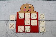 READY TO SHIP Gingerbread Tic Tac Toe Game by ExclusiveStitches