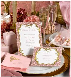 Treat yourself like royalty! Gilded Romance: Shades of pink and lots of gold!