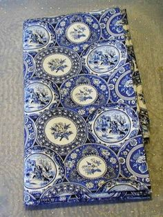 Blue Willow Pattern | Yard Cotton Fabric, Blue Willow Plate Design (FAB011 ...