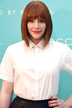 More lovely red hair - Bryce Dallas Howard Bryce Dallas Howard, Hair Color 2016, Red Hair Color, Hair Colors, World Hair, Shades Of Red Hair, Cooler Style, Great Hair, Bob Hairstyles