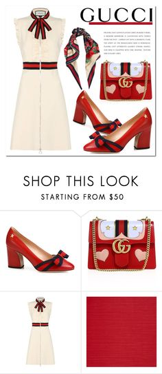 """""""Untitled #1071"""" by samha ❤ liked on Polyvore featuring Gucci and Casadeco"""