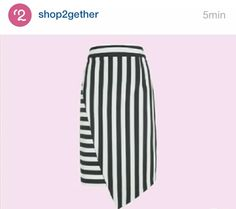 Opção de saia com estampa formal (linha na vertical pra alongar), mas com formato moderno! ;-)