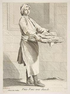 Pastry Seller, Paris, 1738,  Anne Claude Philippe de Tubières, Comte de Caylus…