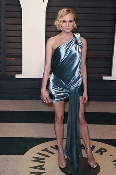 Actress Diane Kruger attends the 2017 Vanity Fair Oscar Party hosted by Graydon Carter at the Wallis Annenberg Center for the Performing Arts on...
