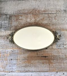 Vanity Mirror Brass Mirror Tray Small Gold Oval Dresser Tray Dresser Top Mirror Brass Bird Mirror Tray Brass Wedding Decor Gift for Her by TheDustyOldShack on Etsy
