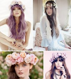 Hair Flower Design Wedding time Bride hair Flower crown