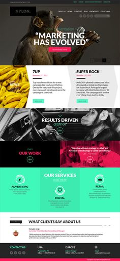 Nylon Agency website by Pedro Eloi, via Behance